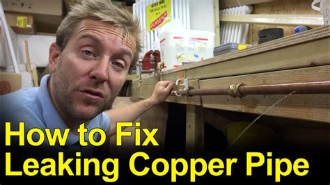 Fix Leaking Copper Pipe  Pinholes  Plumbing Tips Youtube