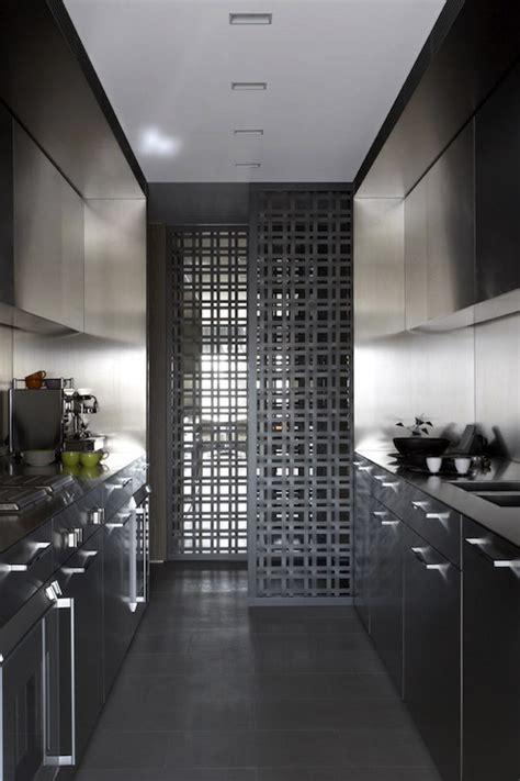 modern galley kitchen modern kitchen burley katon