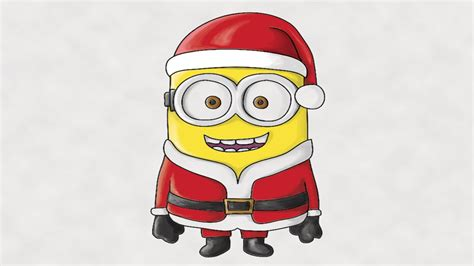 best drawi g of santa clause with chrisamas tree how to draw a minion santa claus colored in photoshop
