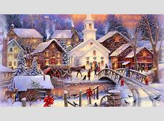 Christmas Town Scene Christmas Photo 36178867 Fanpop