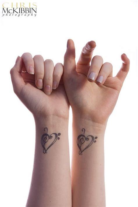 note heart tattoo tattoos friend tattoos  friend tattoos cute matching tattoos