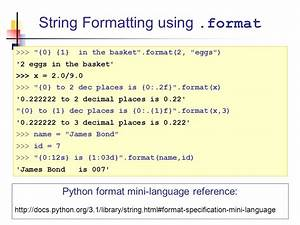 introduction to python ppt download With python string template