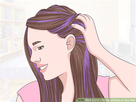 Colors To Put In Hair 4 ways to put a streak of color in your hair wikihow