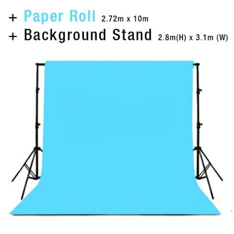 photo studio background backdrop stand includes baby blue