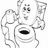 Coloring Toilet Water Closet sketch template