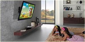 Fixer Une Télé Au Mur : fixer son t l viseur un support guides d 39 achat easylounge ~ Premium-room.com Idées de Décoration