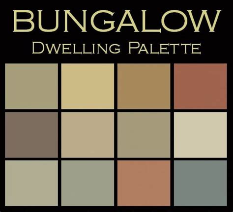 bungalow dwelling palette benjamin paint colours