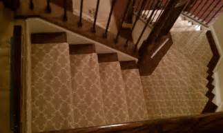 Wood Stairs with Carpet Runner