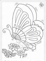 Mexicano Pintar Bordar Bordados Mouton Dessine Papillon Antonina sketch template