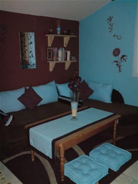 chambre orange et marron chambre avec coin salon turquoise et marron d co