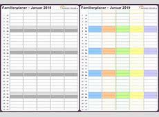 Familienkalender 2019 Download Freewarede