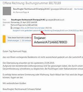 Rechnung Directpay : achtung trojaner in der email von rechtsanwalt directpay24 ag codedocu de blog ~ Themetempest.com Abrechnung