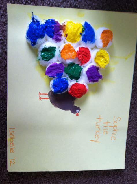 thanksgiving crafts  love  cotton balls