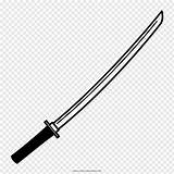 Sword Clipart Samurai Katana Drawing Coloring Clip Pngwave Clipground sketch template