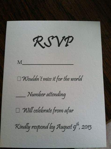 wedding rsvp card stationery pinterest cards