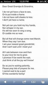 Letter from unborn baby to grandparents baby kid stuff for Letter to grandma from grandson