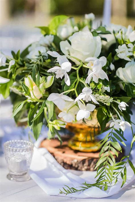 elegant garden wedding inspiration  white gold green