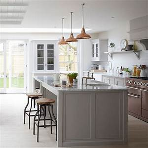 Grey kitchen ideas that are sophisticated and stylish for Kitchen colors with white cabinets with wall metal art contemporary