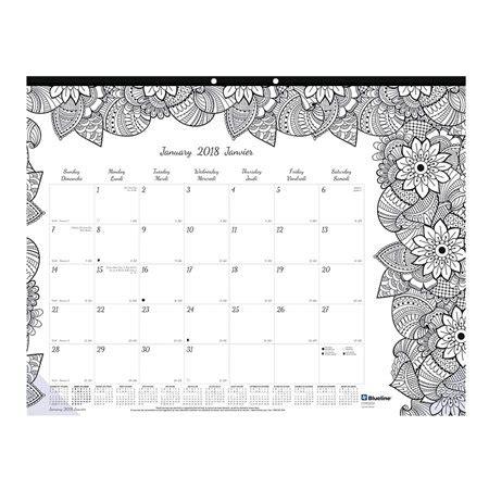 calendrier sous main mensuel colorier