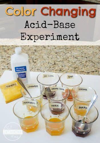 color changing acid base experiment  homeschool