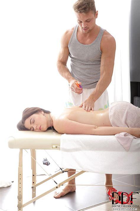 marina visconti has large tits oiled and massaged before hardcore fucking