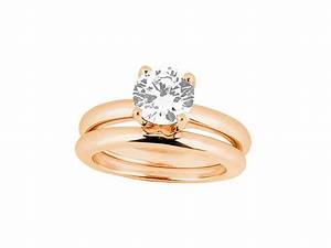 075ct round cut diamond solitaire bridal engagement ring With solitaire diamond wedding ring sets