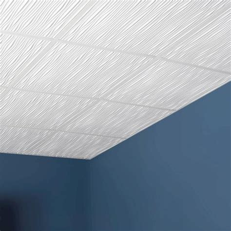 Genesis Ceiling Tiles Home Depot by Genesis Designer 2 X 2 Pvc Drifts Lay In Ceiling Tile At