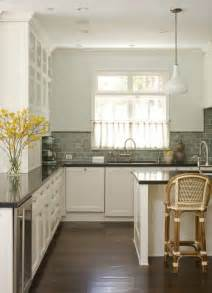 Kitchen Subway Tile Backsplashes Green Subway Tile Backsplash Cottage Kitchen Studio William Hefner