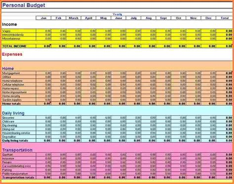 excel budget spreadsheet templates excel spreadsheets