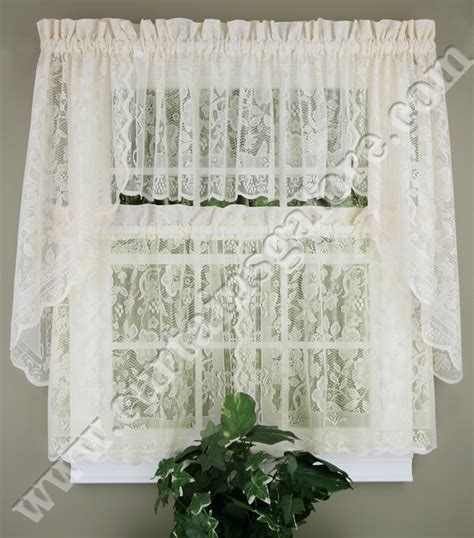 White Lace Kitchen Curtains by Lace Kitchen Curtains White United Lace Curtains