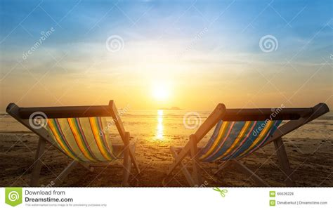 Two Sunbeds The Beach Stock Photo Cartoondealer