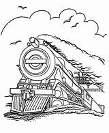 Coloring Train Printable Steam Engine Pages Locomotive Ecoloringpage sketch template