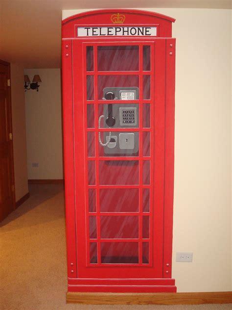 english phone booth mural