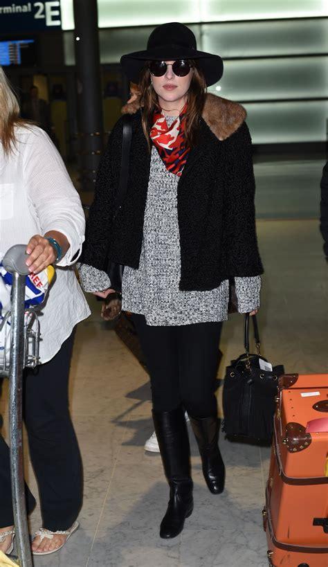 Dakota Johnson at Charles de Gaulle Airport in France ...