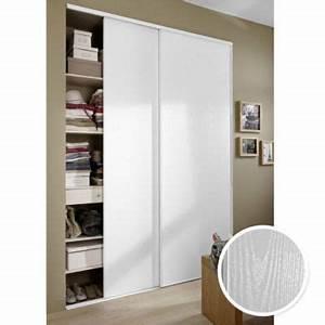 Comment Faire Un Placard Mural : 2 portes de placard blanc vein 250 x 150 cm castorama ~ Dallasstarsshop.com Idées de Décoration