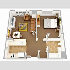"""50 One """"1"""" Bedroom Apartmenthouse Plans Architecture"""