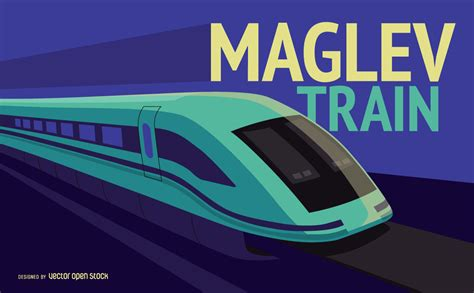 Blue Red And Yellow Wallpaper Maglev Train Illustration Free Vector