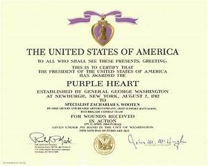 image gallery humanitarian award certificate With purple heart citation template