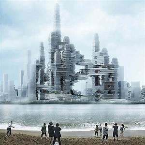 Futuristic architecture of Bay Super City in Shenzhen
