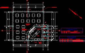 Cafeteria With Floor Plans 2D DWG Design Plan for AutoCAD