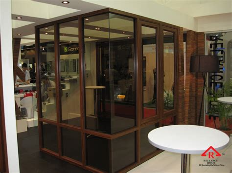aluminium glass partition reliance home