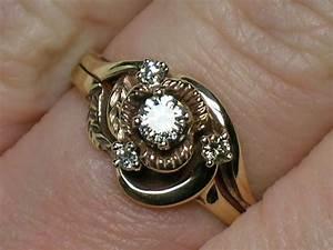 vintage wedding rings set rustic northwest rose by With rustic wedding ring sets