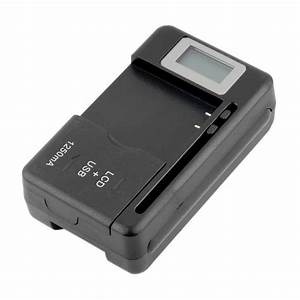 Mobile Universal Battery Charger Lcd Indicator Screen For