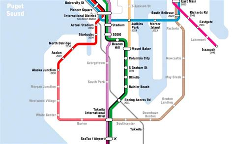 light rail seattle map new light rail map shows transit seattle only dreams of