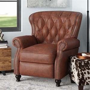 Lenihan Leather 21 25 U0026quot  Manual Recliner