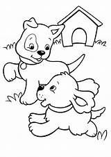 Coloring Dog Pages Puppy Playing Printable Puppies Pups Sheet Emoji Cat Begging Dogs Colouring Cats Info Books Sheets Mouse Getcolorings sketch template