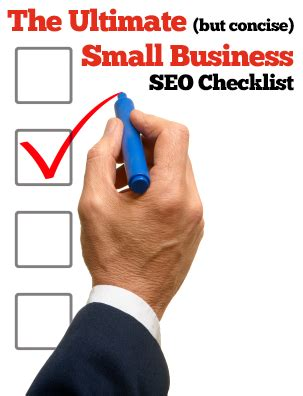 small business seo the ultimate but concise small business seo checklist