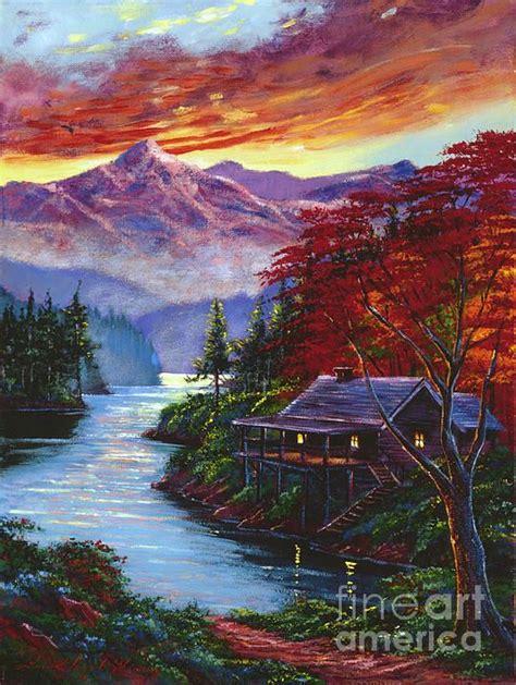 sunset cove  david lloyd glover landscape art lake