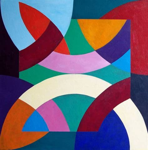 Abstract Shapes Painting 40 aesthetic geometric abstract paintings bored