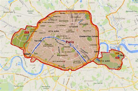 map  paris superimposed  london progressive